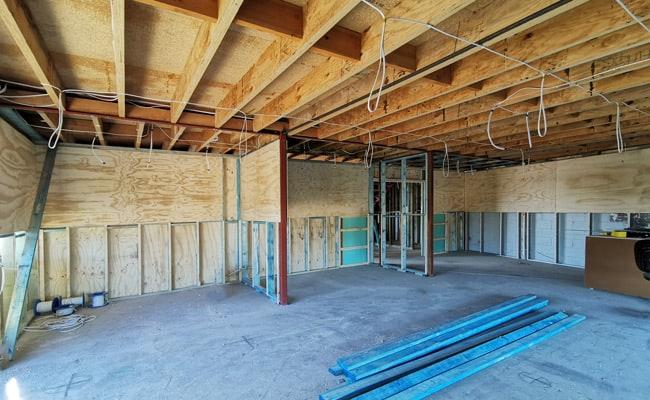 Progress at the Dawson's Framing Renovation Site