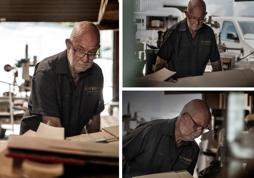 Graham Reynolds, Master Framer specialising in Period Frames at Dawsons Picture Frames Gold Coast