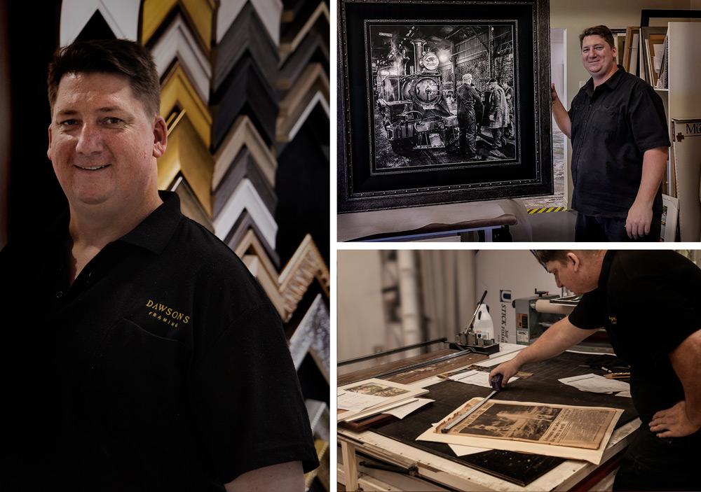 Acott Dawson, owner of Dawsons Picture Frames Gold Coast